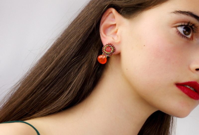 Earring-Goiaba-small orange