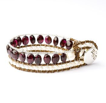 Handmade Bracelet RIVIERE Garnet