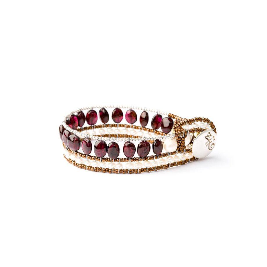 Bracelet Riviere Garnet-Ziio Jewels