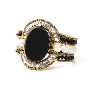 Handmade Bracelet SUN Black White