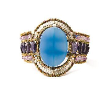 Handmade Bracelet SUN Blue Onyx