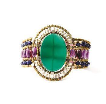 handmade Bracelet SUN Green Onyx