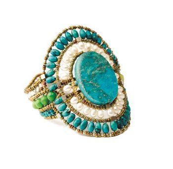 Handmade Bracelet SUN Large Turquoise