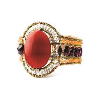 Handmade Bracelet SUN Red Onyx