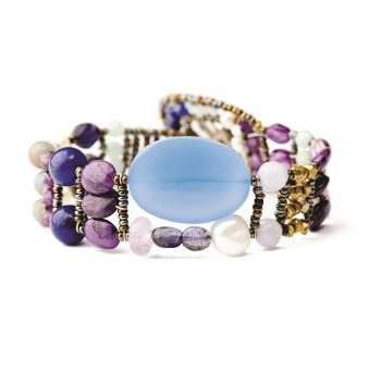 Handmade Bracelet THIN Blu Onyx