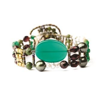 Handmade Bracelet THIN Green Onyx