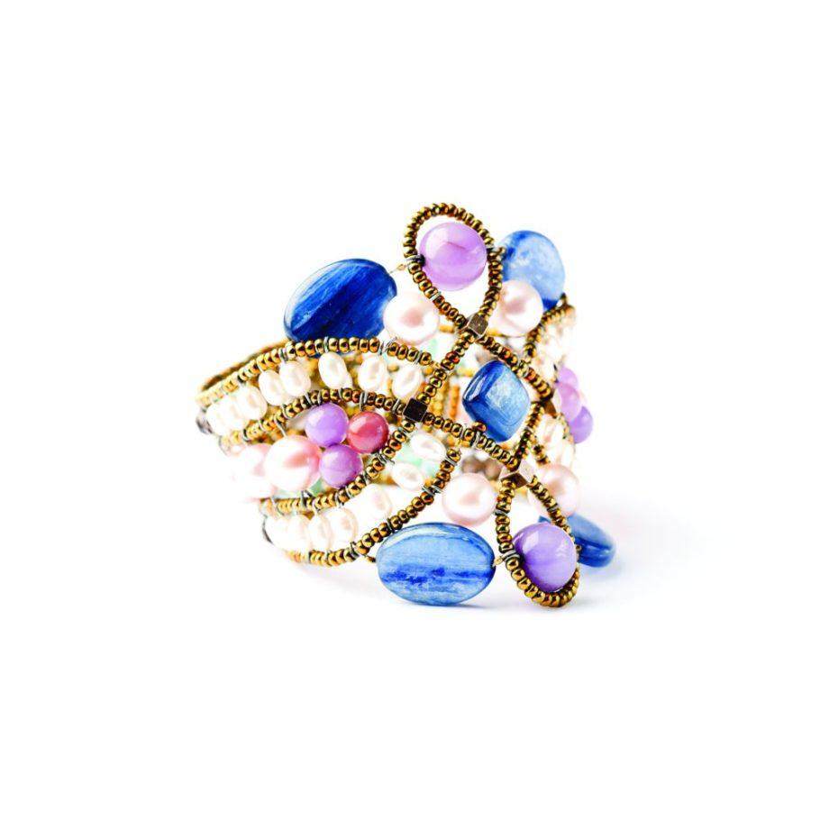 Handmade-Bracelet-Knot-lilla-1