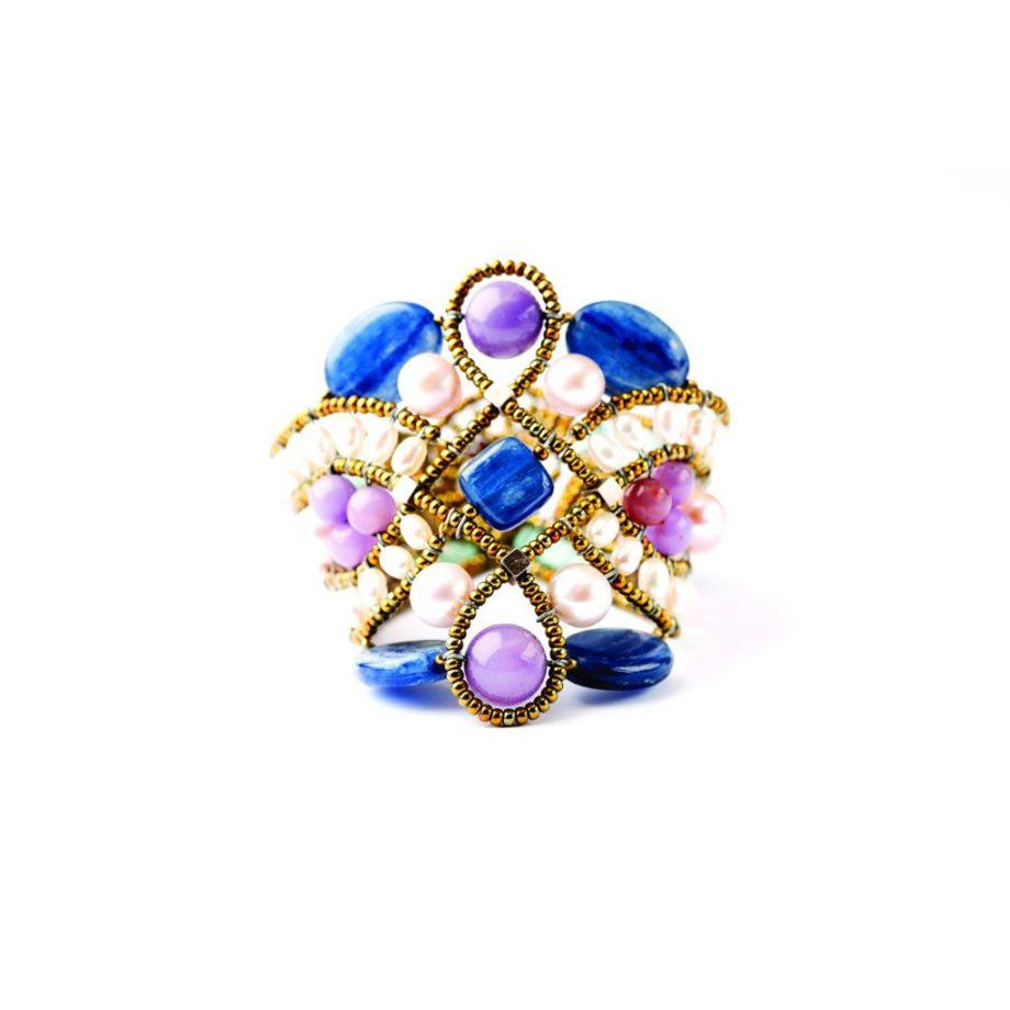 Handmade Bracelet Knot lilla 2