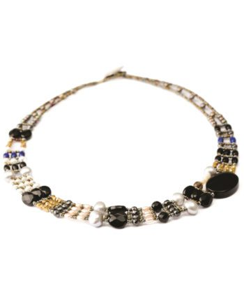 Handmade Necklace THIN Black Onyx