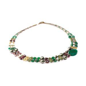ZIIO Necklace THIN Green Onyx