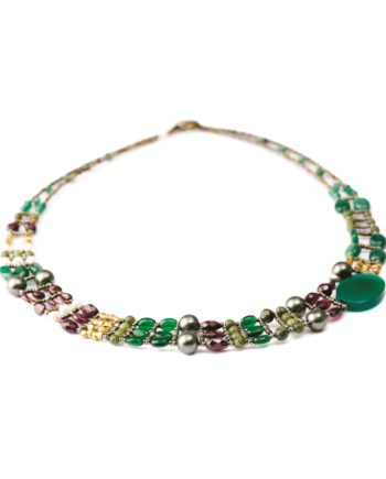Handmade Necklace THIN Green Onyx