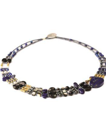 Handmade Necklace THIN Lapis