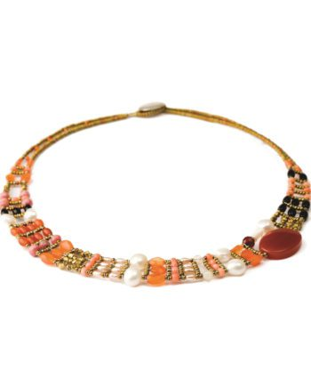 Handmade Necklace THIN Red Onyx