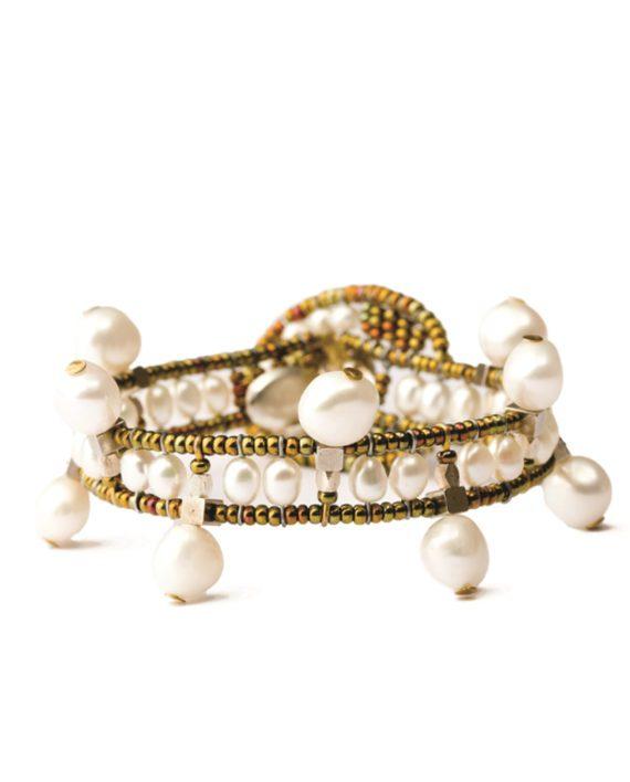 Handmade Bracelet CROWN Pearl