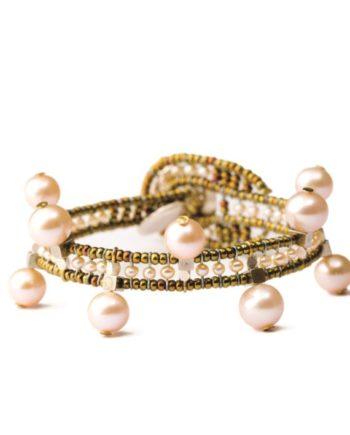 Handmade Bracelet CROWN Pink
