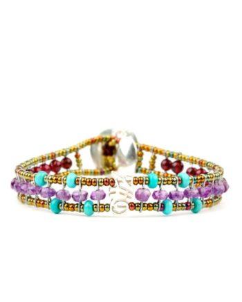 Handmade Bracelet GOUTTE Violet