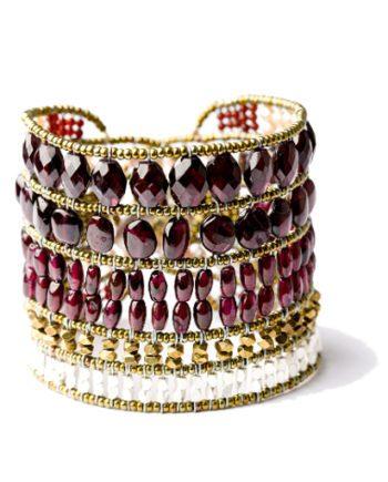 Handmade Bracelet MONOCROMO Garnet