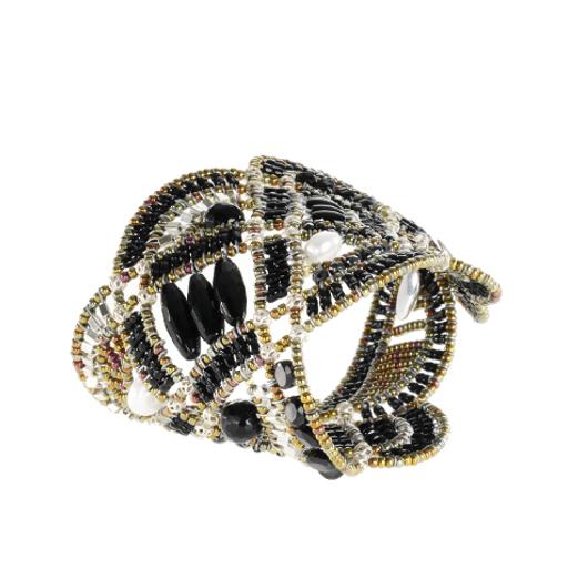 Ziio Jewellery Bracelet for Women, Silver, Hematite, 2017, One Size