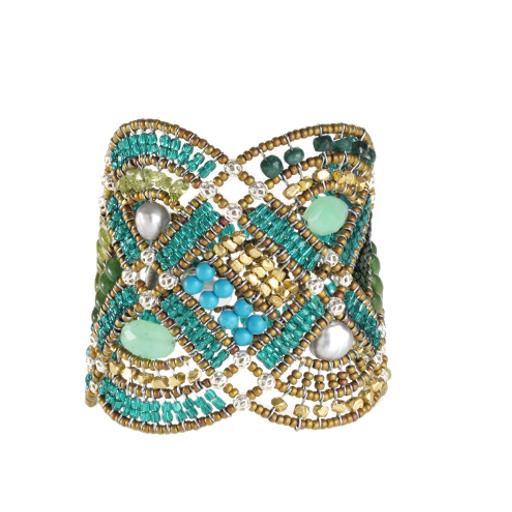 Bracelet for Women, Green, Chrysophrase, 2017, One Size Ziio Jewellery