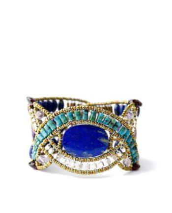 Handmade Bracelet NU Round Lapis