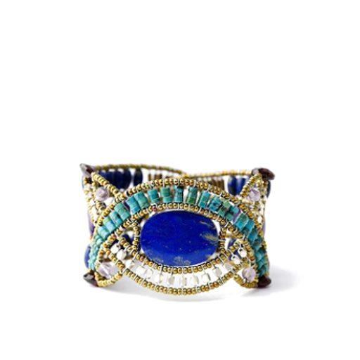 Ziio Jewellery Bracelet for Women, Green, Chrysophrase, 2017, One Size