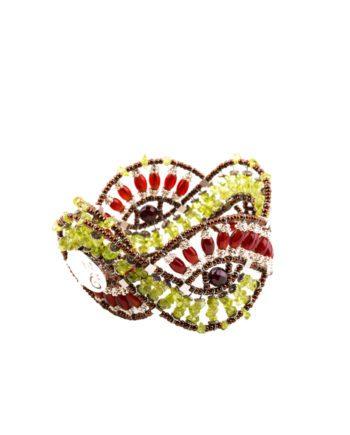 Handmade Bracelet WAVES Peridot