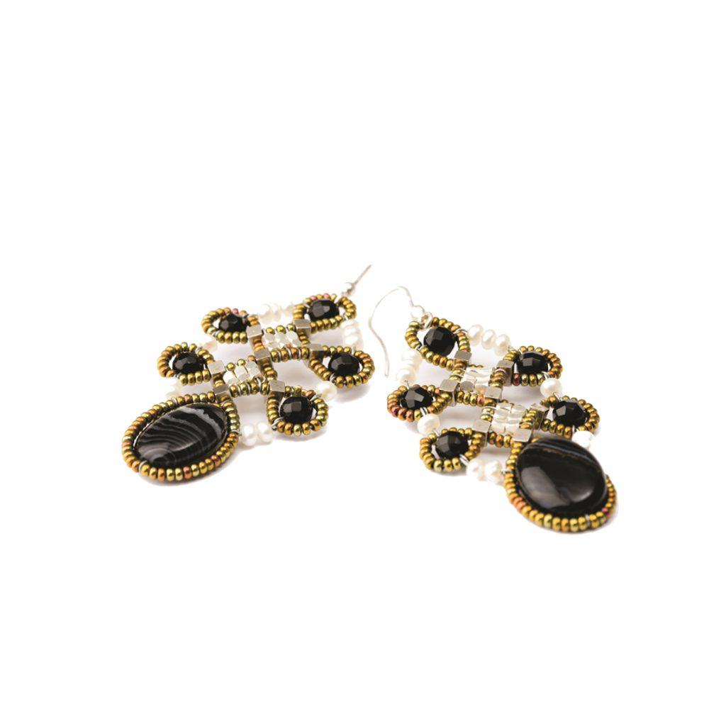 Earrings for Women, Pearl White, Murano Glass, 2017, One Size Ziio Jewellery