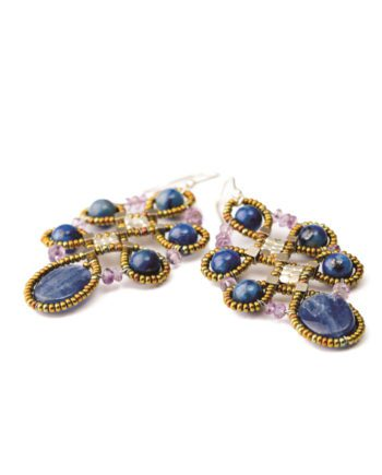 Handmade Earrings ARABESQUE Blu