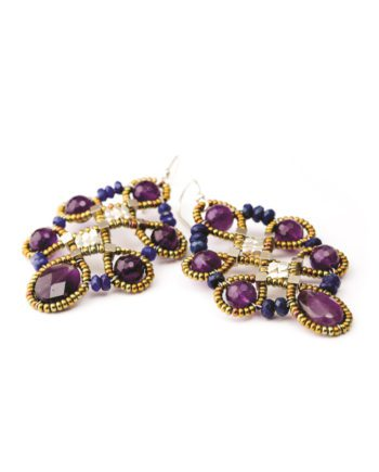 Handmade Earrings ARABESQUE Violet