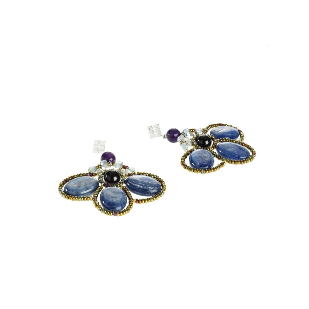 Earrings for Women, Violet, Silver, 2017, One Size Ziio Jewellery