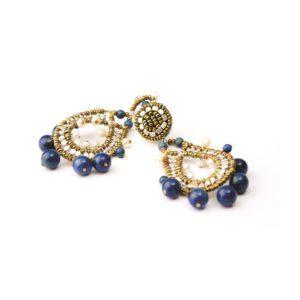Ziio Earrings CROWN Blue