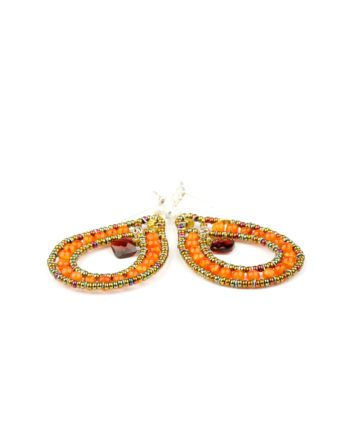 Handmade Earrings GOUTTE Orange