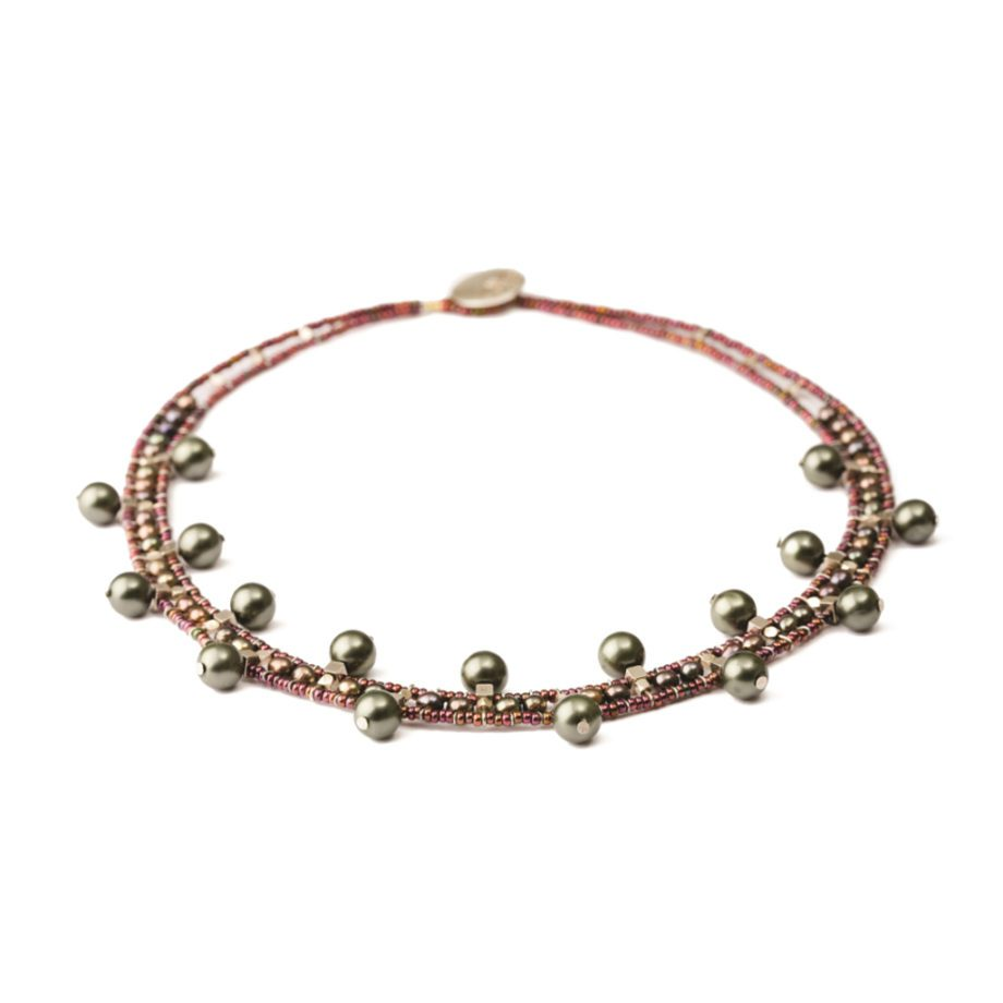 Handmade Necklace Crown Black