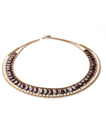 Handmade Necklace RIVIERE Garnet