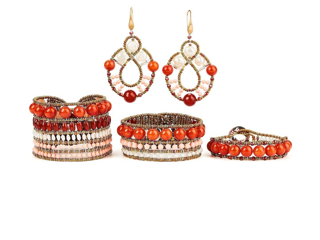 handmade jewels Permanent Collection RED