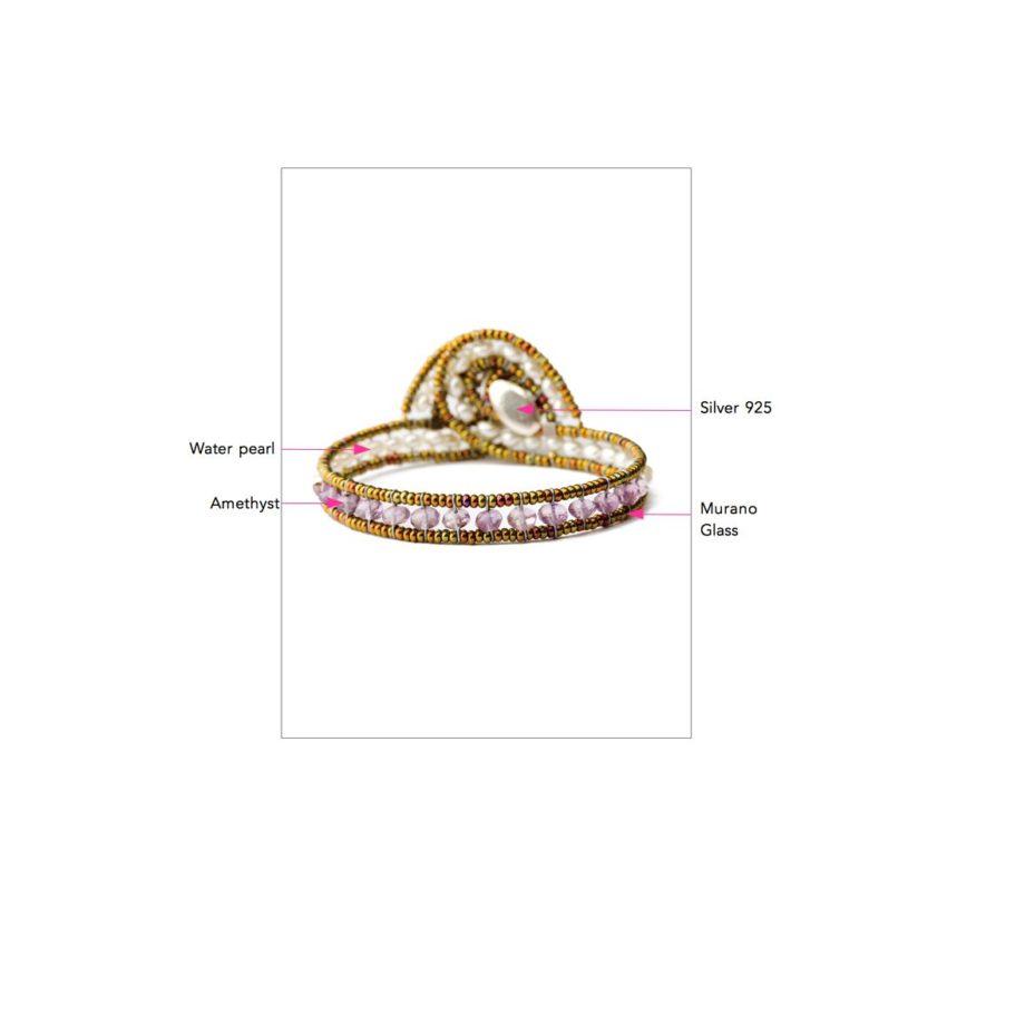 ziio jewels LEGENDE BRACELET MINUS AMETHYST
