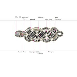 ziio jewels LEGENDE BRACELET NEW ROMANCE BLACK 27
