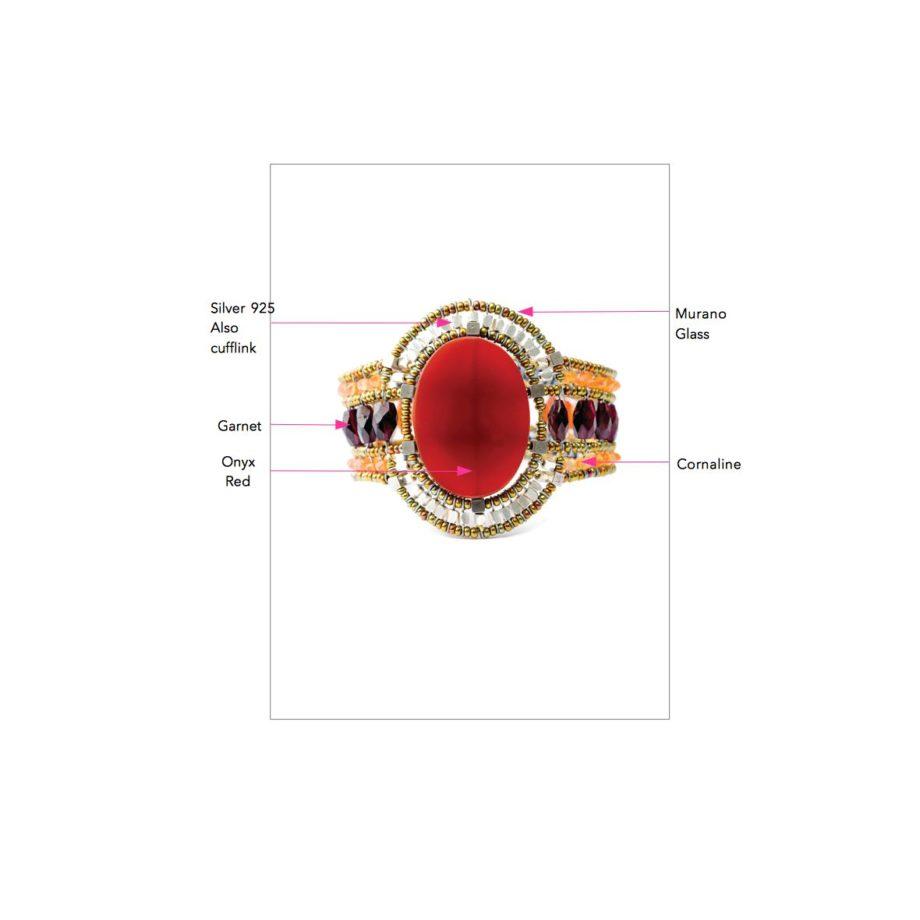 Ziio jewels LEGENDE BRACELET SUN RED ONYX