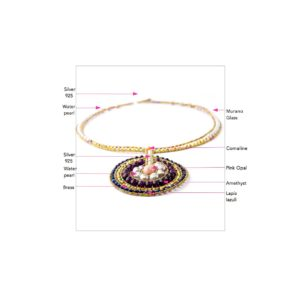 ziio jewels LEGENDE NECKLACE VENUS AMETHYST 27