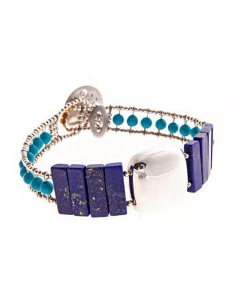 Handmade-Bracelet-SHINE-LAPIS-TURQUOISE-ziio