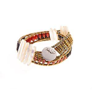 Handmade Bracelet TETHIS RED BACK