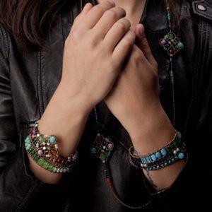 Handmade Bracelet and Pendant KNOTT rainbow