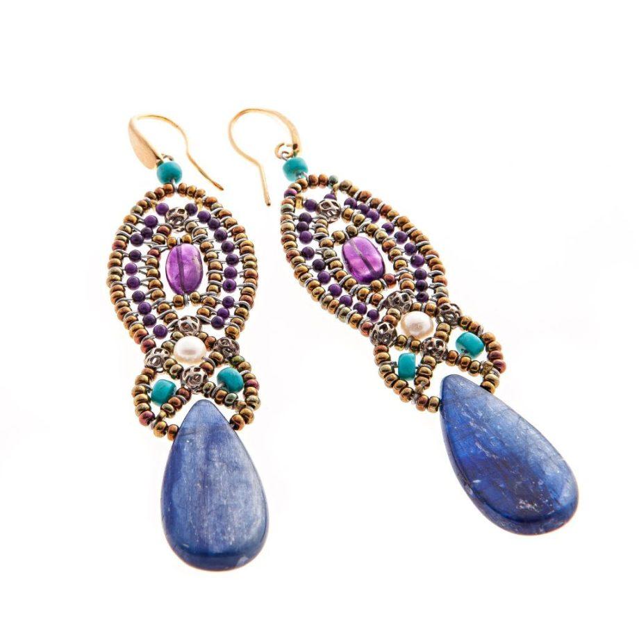 Earrings rha blue