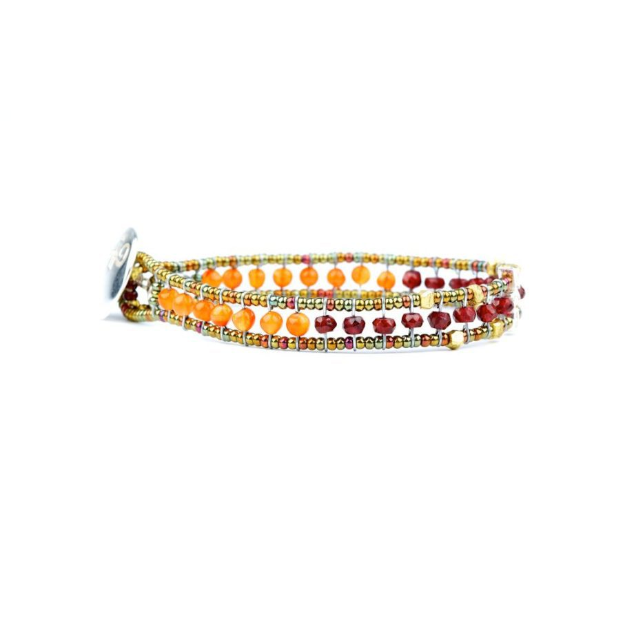 Bracelet Bracciale Goutte Orange ziio jewels