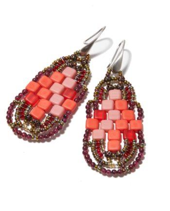 Earrings PIXEL Grenade by Ziio Jewels
