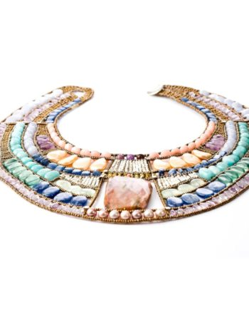 HANDMADE NECKLACE CLEOPATRA PASTEL FLAT ZIIO JEWELS
