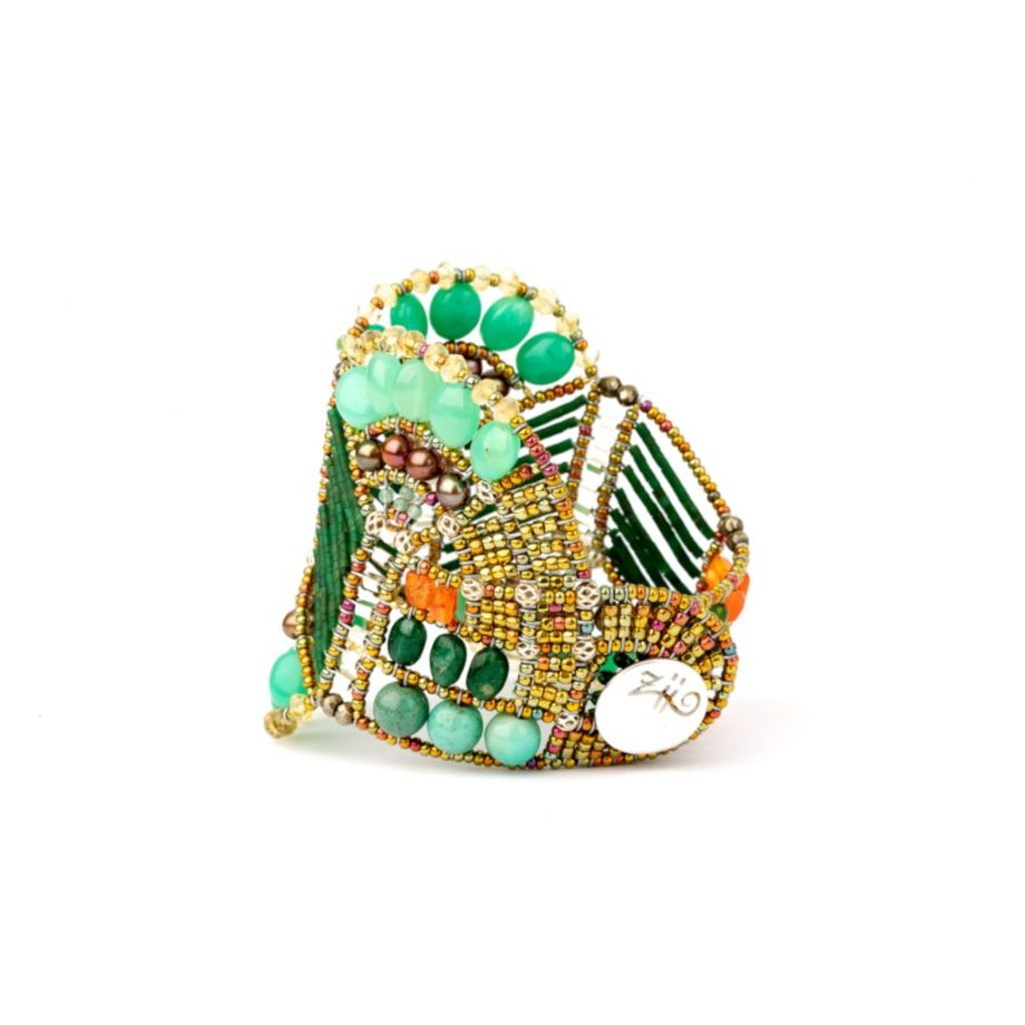 Handmade Bracelet PAPYRUS Green