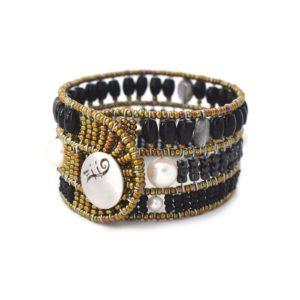 bracelet Fenice Black Pearl chiuso