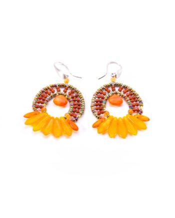 Earrings Mistinguett Orange