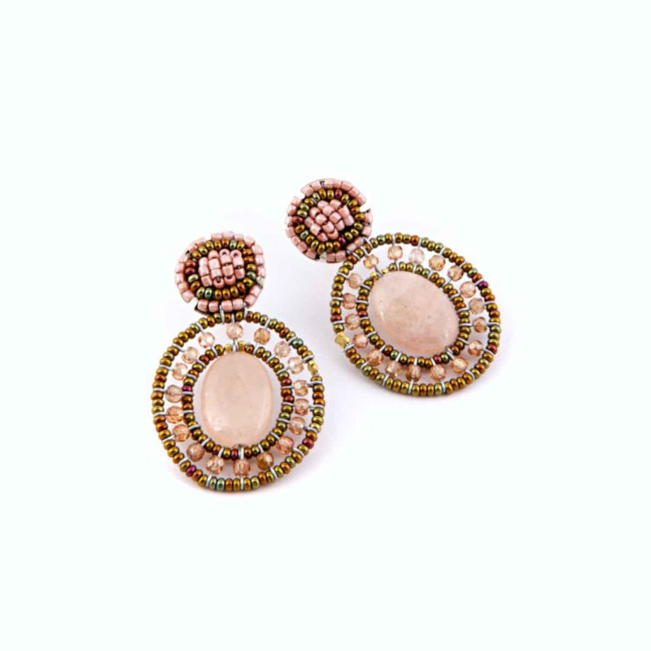 Earrings GOIABA MORGANITE